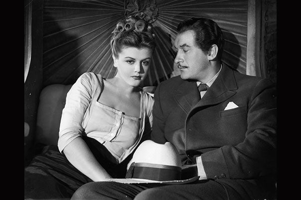 "Angela Lansbury starred with George Sanders in ""The Private Affairs of Bel Ami"" (1947), which will be shown at the Harvard Film Archive on Nov. 23."