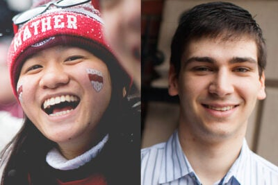Rhodes Scholars Ruth Fong and Benjamin Sprung-Keyser both are driven by a desire to improve the world around them.