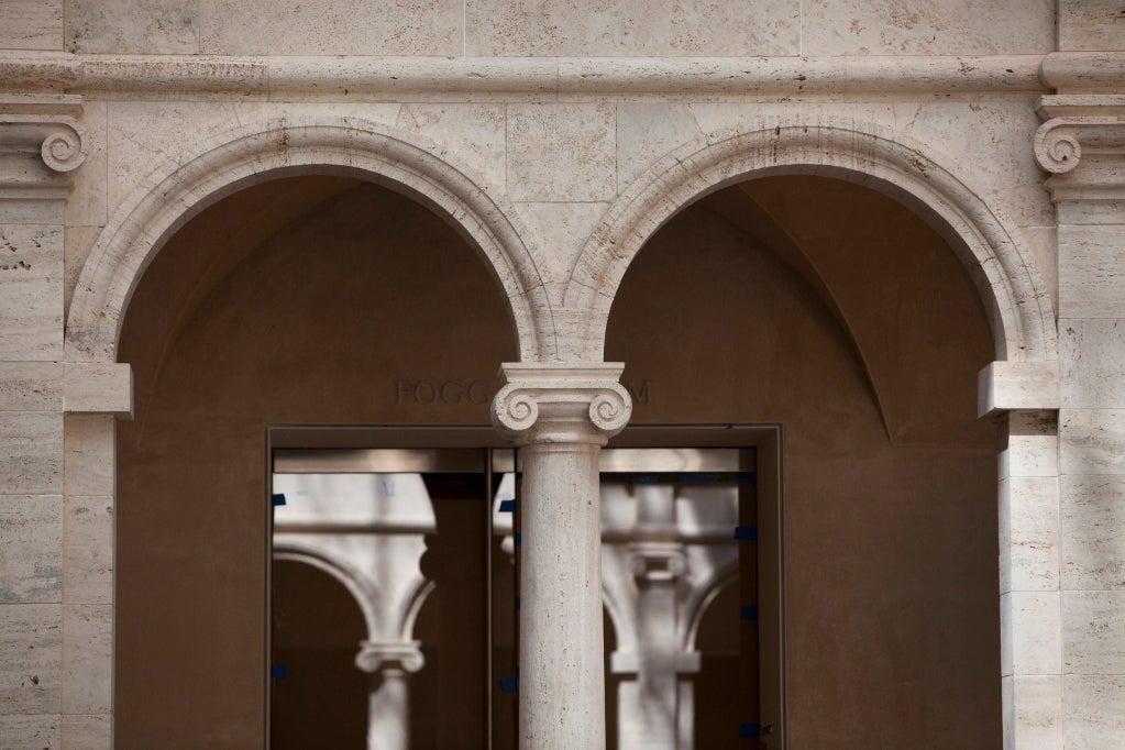 "Light from the ""glass lantern"" fills the iconic Calderwood Courtyard. Stephanie Mitchell/Harvard Staff Photographer"