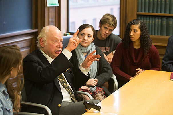 """Nobel winner Steven Weinberg brought his thoughts on a """"theory of everything"""" to the Physics Department's Lee Historical Lecture."""