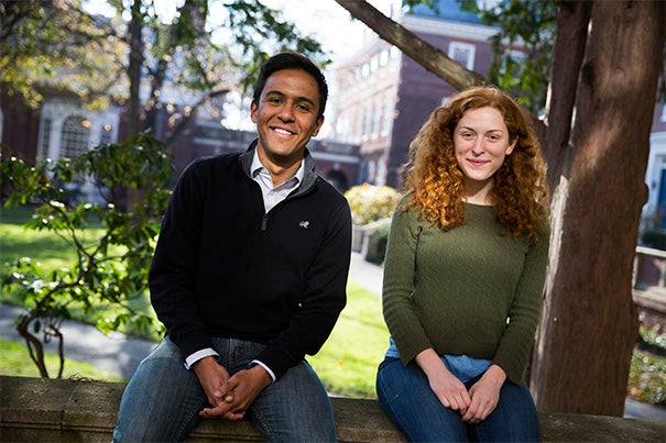 Michael George '15 and Anna Hagen '15 are both overwhelmed after receiving news of their Marshall Scholarships last week. The prestigious honor supports young Americans in graduate studies in the United Kingdom.