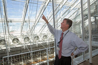 """[W]e wanted to set the standard for energy conservation and green building in the museum setting,"" said Peter Atkinson (photo 1), the Harvard Art Museums' director of facilities planning and capital management."