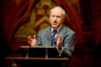 "Harvard Professor Michael Sandel will present a special edition of his ongoing  ""Public Philosopher"" lectures for the BBC, which will air Jan. 20 as part of its ""Democracy Day"" programming."