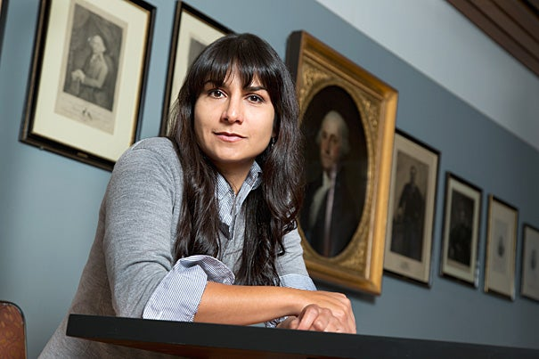 "New political science research from Maya Sen (pictured) of the Ash Center at the Harvard Kennedy School and Stanford University's Adam Bonica quantifies the political makeup of the nation's judiciary. ""The higher or more politically important the court, the more conservative it is, especially when compared to the overall population of attorneys,"" the paper concludes."