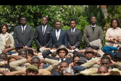 """""""Selma"""" director Ava DuVernay described her responsibility when making a feature film that reflects a historical event. """"I did not go into it trying to rehabilitate, celebrate anyone. …I am just telling the story the way I see it,"""" she told  Harvard Professor Henry Louis Gates Jr., following the screening of her film in Somerville on Monday."""