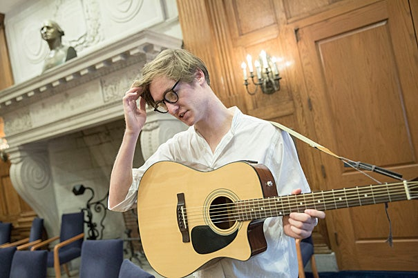 After its recent renovation, the Barker Arts Café has begun to establish itself as a local hub for artistic expression, featuring a variety of acts by stand-up comedians, artists, and musicians such as Miles Hewitt '17.