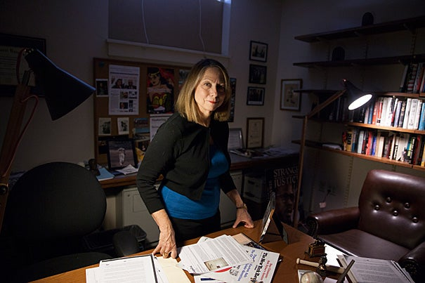 """""""I fell in love with journalism and the power of the press to change the world during that freshman year 1972-73,"""" said Jill Abramson '76, former executive editor of The New York Times and a visiting lecturer in the Department of English."""