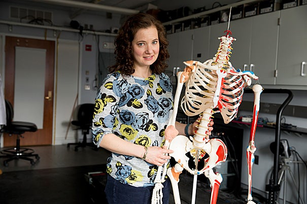 """""""This idea that pelvic width for birth and pelvic width for locomotion are connected is deeply ingrained in this discipline,"""" said Anna Warrener, the study's first author and a postdoctoral fellow working in the lab of Daniel Lieberman, the Edwin M. Lerner II Professor of Biological Sciences and the chair of the Department of Human Evolutionary Biology."""