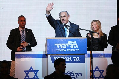 "Harvard Kennedy School Professor Stephen Walt assessed Tuesday's Israeli election, which  resulted in a triumphant Benjamin Netanyahu (pictured). ""Netanyahu made it clear that we should expect more of the same: more settlements, steadfast opposition to any sort of Palestinian state, and continued warnings about Iran,"" said Walt."