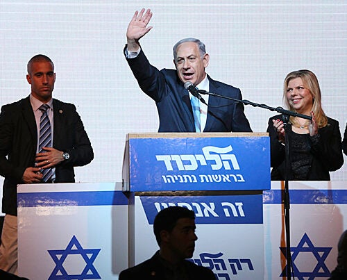 """Harvard Kennedy School Professor Stephen Walt assessed Tuesday's Israeli election, which  resulted in a triumphant Benjamin Netanyahu (pictured). """"Netanyahu made it clear that we should expect more of the same: more settlements, steadfast opposition to any sort of Palestinian state, and continued warnings about Iran,"""" said Walt."""