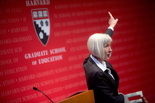 "EDUCAUSE President and CEO Diana Oblinger spoke on ""The Digital Ecosystem and Higher Education's Future"" as part of the Askwith Forum series at the Harvard Graduate School of Education."