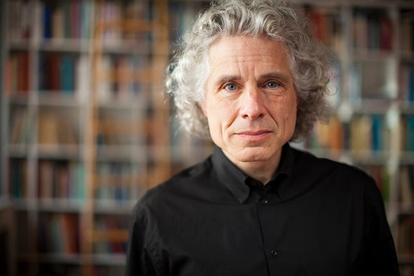 "Johnstone Family Professor Steven Pinker said he wrote his latest book on grammar and style because ""when it comes to usage, there's no one in charge; the lunatics are running the asylum."""