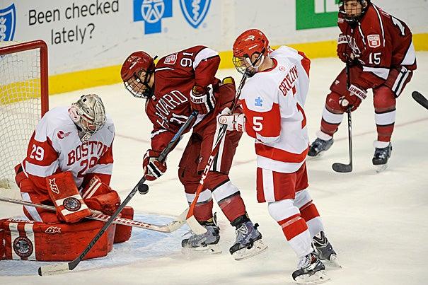 Beanpot hockey, Harvard  v. B.U. Jon Chase/Harvard Staff Photographer