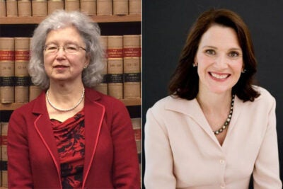 Karen Nelson Moore '70, J.D. '73 (left), has been named president of Harvard University's Board of Overseers for 2015-16. Diana Nelson '84 will serve as vice chair of the board's executive committee.