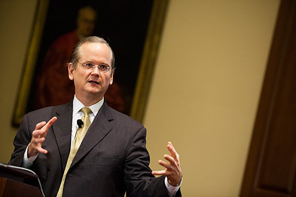 """""""I think the most important goal was to create an awareness of the kind of corruption that people are likely to miss or not think of as corruption,"""" said Harvard's Lawrence Lessig, who, as the director of the Edmond J. Safra Center for Ethics, launched a limited-time project to research the problem of institutional corruption in the United States."""
