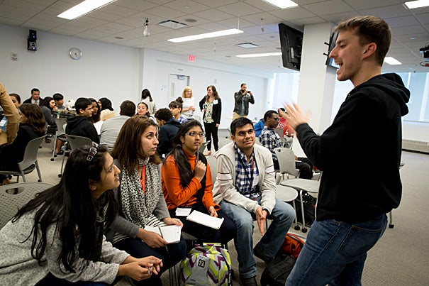 Harvard Business School student Michael Segel told his high school audience that entrepreneurs didn't necessarily have to come up with something new, but something better.