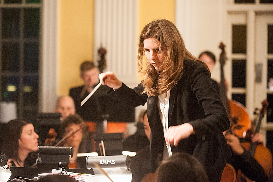 Lidiya Yankovskaya conducts the 64-piece orchestra. In addition to conducting, Yankovskaya is a pianist and singer, and the Russian diction coach and occasional rehearsal conductor for the Tanglewood Festival Chorus (chorus of the Boston Symphony).