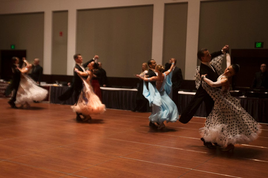 Couples dance in an early round of competition during the Hanlon-Ford Gala, the Saturday night portion of the competition.