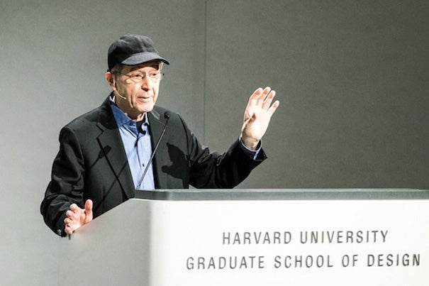 "Composer Steve Reich spoke to the GSD audience about ""WTC 9/11,"" his haunting composition written during the construction of the 9/11 Memorial. The piece demonstrates the medium's unique ability to recall not only the defining moment of loss, but the trauma that continually threatens to erase it from memory."