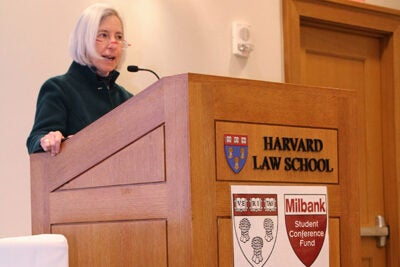 """We are all here because we want to see a more inclusive food movement,"" said Harvard Law School Dean Martha Minow in her opening remarks at ""Just Food?"" this past weekend."