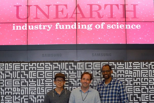 Christopher Robertson's Unearth team (photo 1) won first place at the Hacking iCorruption hackathon held at the MIT Media Lab (photos 2, 3). The winning teams will go on to present their practical solutions for reducing institutional corruption to a conference at Harvard Law School in May.