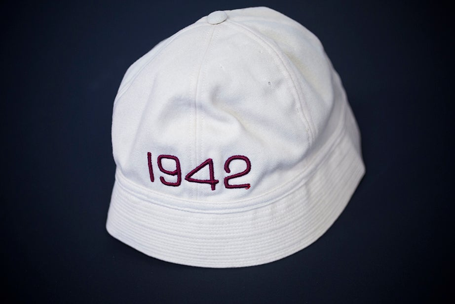 A junior varsity crew hat, 1942. (Harvard University Archives)