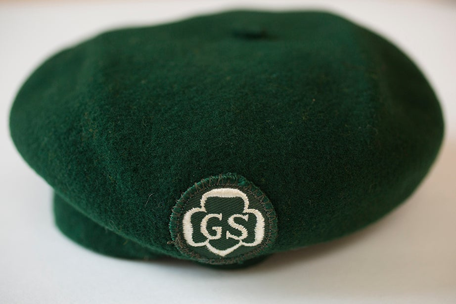 Girl Scout hat from the collection of Charlotte Bunch. (Schlesinger Library).