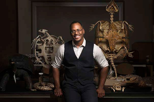 """""""As a child, I was fascinated with animals. I watched many nature documentaries, and fell in love with the strange and exotic creatures in mysterious parts of the world that I never thought I would have a chance to see,"""" said Ph.D. candidate Shane Campbell-Staton."""