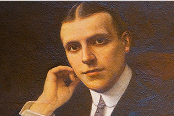 There will be a yearlong celebration of Widener Library, which turns 100 this June. This painting of Harry Elkins Widener hangs over the fireplace in the Widener Memorial Room. Launching the celebration were two lectures. John Stauffer (photo 2), a professor of English and African and African-American Studies, talked about the value of Harvard's collections. Leslie Morris (right, photo 3), curator of modern books and manuscripts at Houghton Library, shared the stage with Stauffer. In her talk, Morris offered a glimpse of book collector Harry Elkins Widener, outlining his acquisitions. Among his books were first editions of Dickens and Robert Louis Stevenson.