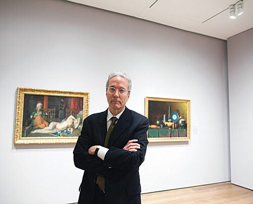 """I've been here for almost 12 years and I think this is a natural time to step down,"" said Thomas W. Lentz, the outgoing Elizabeth and John Moors Cabot Director of the Harvard Art Museums. ""What I want to do is take a deep breath for a while."""