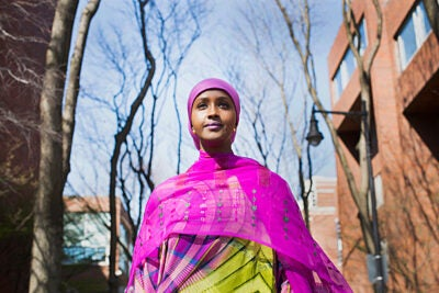 """""""Of course, I think about the instability, I think about the insecurity, I think about the challenges that lie ahead, but I think these challenges face women wherever they are,"""" said future Somali presidential candidate Fadumo Dayib, who is graduating from the Harvard Kennedy School. """"But the ultimate challenge really is: How far am I willing to go with my convictions?"""""""