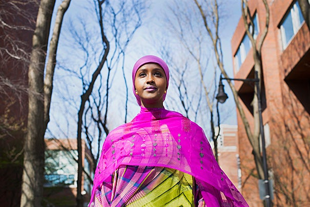 """Of course, I think about the instability, I think about the insecurity, I think about the challenges that lie ahead, but I think these challenges face women wherever they are,"" said future Somali presidential candidate Fadumo Dayib, who is graduating from the Harvard Kennedy School. ""But the ultimate challenge really is: How far am I willing to go with my convictions?"""