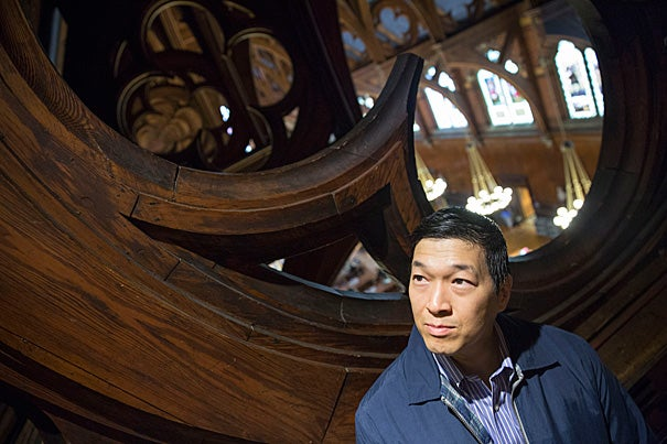 """After living through the economic meltdown of 2008 and losing his wife of 28 years to cancer, George Koo decided to change his life by enrolling at Harvard Extension School. Now he wants to fulfill a promise to himself """"to make a major contribution to this world before I leave it,"""" and to inspire others to do the same."""