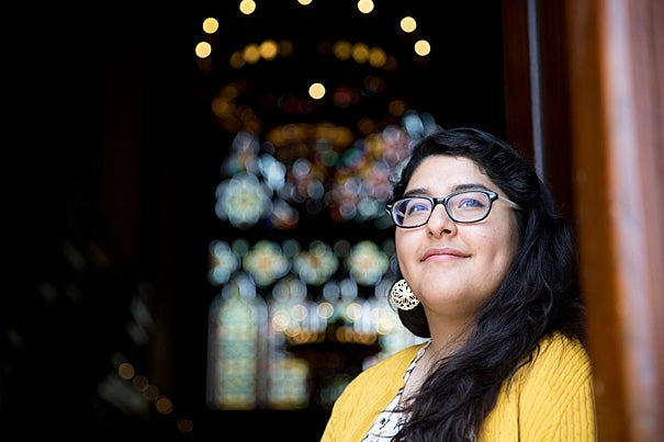 """A self-described """"nerd,"""" Veronica Gloria said that even at a young age she knew she wanted to be a bridge between minority and immigrant communities and the rest of society. """"I thought, how can we understand each other, and how can we move together toward justice?"""""""