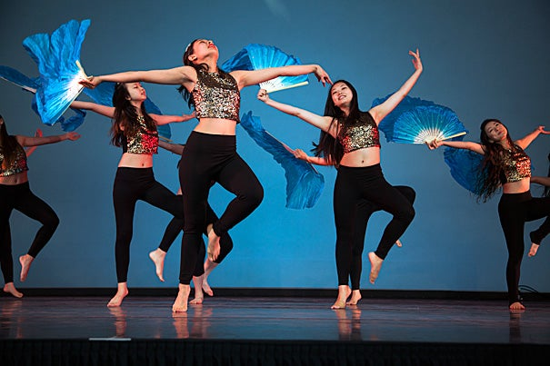The Asian American Dance Troupe performs at Arts First. Photo by Kiera Blessing