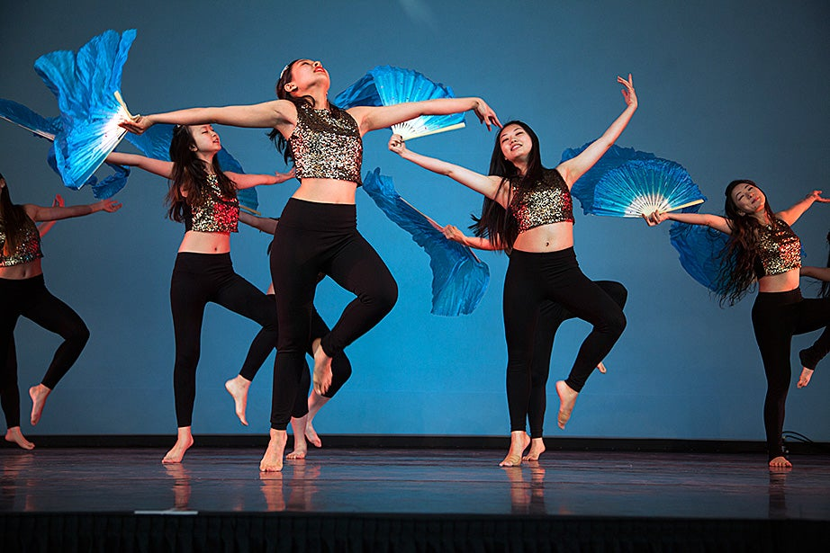 The Asian-American Dance Troupe performs at Arts First. Photo by Kiera Blessing