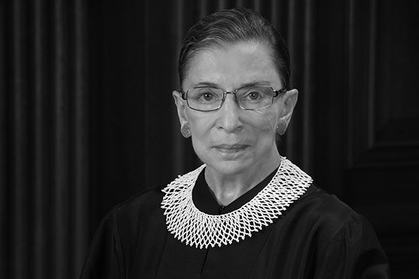 """Throughout Justice Ginsburg's career, she has worked to advance equality and justice. On Radcliffe Day, we honor her values and her impact as a litigator, judge, and justice,"" said Lizabeth Cohen, dean of the Radcliffe Institute for Advanced Study."