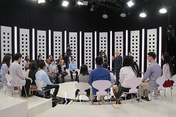 """What are the ethical challenges that arise in a world where artificial intelligence and smart machines are playing a greater role?"" was just one of the ethical concerns proposed by Anne T. and Robert M. Bass Professor of Government Michael Sandel during a discussion in Tokyo hosted by NHK, Japan's public broadcasting station."
