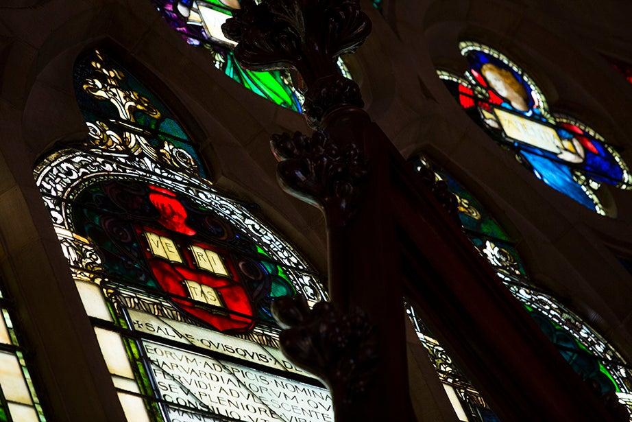 Inside the transept in Memorial Hall.