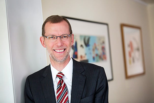 """""""I am honored to have been chosen by President Faust to serve as dean of the Harvard Kennedy School,"""" said Douglas Elmendorf. """"During my public service, I have seen firsthand the essential role of innovative policy ideas and outstanding people to put those ideas into practice, and the Harvard Kennedy School is the pre-eminent provider of both to governments in this country and around the world."""""""