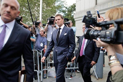 """In the case known as """"Deflategate,"""" a federal court judge is presiding over a bizarre dispute between the American sports world's most profitable entity, the National Football League, and one of the most successful quarterbacks in its history, Tom Brady."""