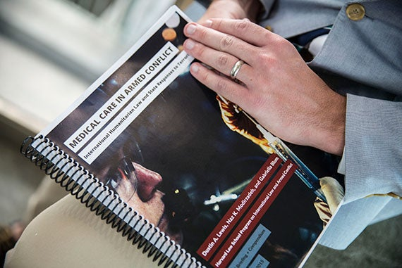 Released Sept. 8, this is the first comprehensive report to examine how counterterrorist policies threaten to erode international humanitarian law protecting medical care for wounded combatants in armed conflicts. Kris Snibbe/Harvard Staff Photographer