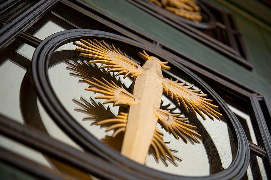 A Glaucus atlanticus decorates Harvard's BioLabs. Rose Lincoln/Harvard Staff Photographer