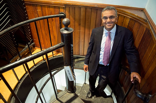 Ashish Jha, director of the Harvard Global Health Institute, believes Harvard itself may have arrived at a global health moment, one in which its talent, leadership, and student passion make a dramatic impact.