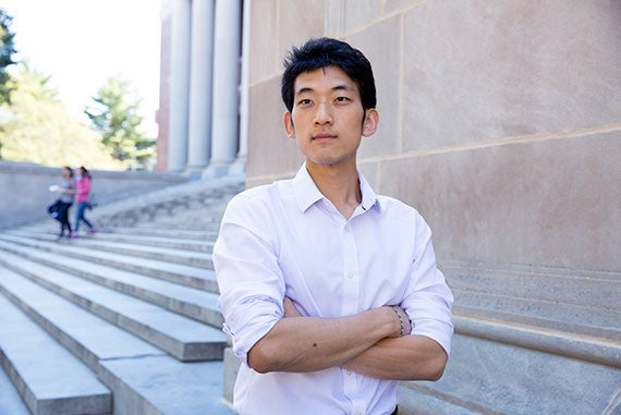 Jisung Park, a PhD candidate in economics in the Graduate School of Arts and Sciences, gathered cross-sectional data on wealth, occupation, and climate for 52 developing countries, some 700,000 households. The goal was to map the experiences of people who oftentimes contribute least to climate change and yet will be those who suffer the greatest damage from it. He co-authored the paper with Evan Sandhoefner. Rose Lincoln/Harvard Staff Photographer