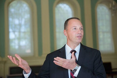 Christian Hamer (pictured), the University's chief information security officer, and Jim Waldo (below), the Gordon McKay Professor of the Practice of Computer Science in the John A. Paulson School of Engineering and Applied Sciences as well as Harvard's chief technology officer, say that Internet security is a top priority of the University.