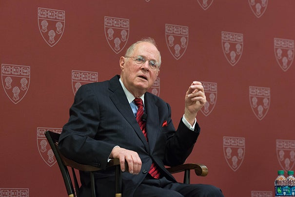 "During an appearance at Harvard Law School, U.S. Supreme Court Justice Anthony Kennedy criticized the shortcomings of the American prison system, citing its ""ongoing injustice."""
