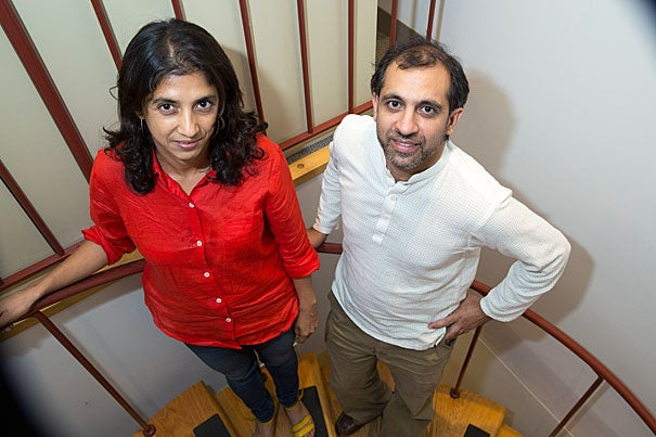 Rohini Pande (left) and Asim Khwaja co-direct Harvard Kennedy School's Evidence for Policy Design.
