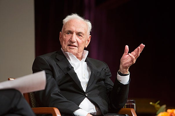 Long known as a boundary-pushing visionary in design circles, architect Frank Gehry reflected on his career during a talk at the JFK Jr. Forum.