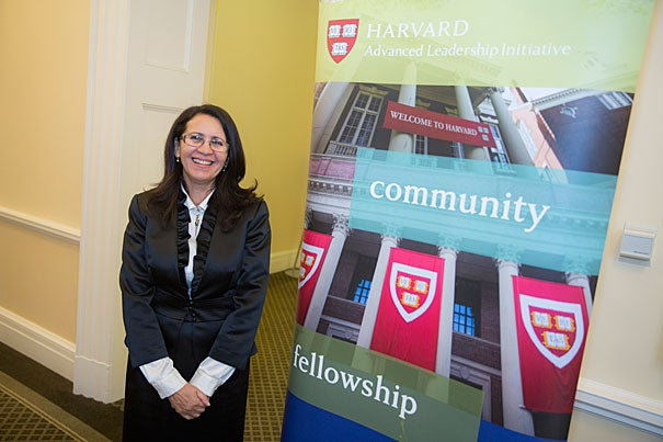 At the conclusion of their Advanced Leadership Initiative fellowship, fellows such as Nouzha Chekrouni described their plans aimed at solving societal problems.